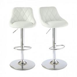 Barové stoličky s operadlom, 2 farby