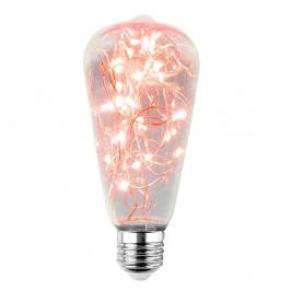Luxlab LED DEKORATÍVNA ŽIAROVKA červená E27 2W ST64-CR