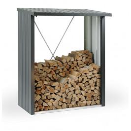 Biohort Multifunkční sklad krbového dreva - drevník WoodStock 157 x 102 (sivá kremeň metalíza)
