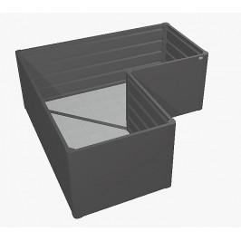 Biohort Zvýšený truhlík na zeleninu L (tmavo sivá metalíza) L (4 krabice)