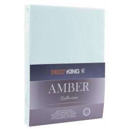 Bavlněné prostěradlo AmeliaHome AMBER mrazivě modré