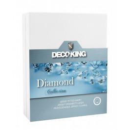 Bavlněné prostěradlo DecoKing DIAMOND bílé