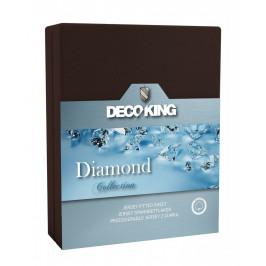 Bavlněné prostěradlo DecoKing DIAMOND čokoládové