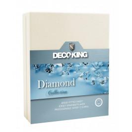 Bavlněné prostěradlo DecoKing DIAMOND ecru