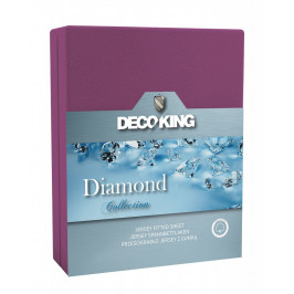 Bavlněné prostěradlo DecoKing DIAMOND fialové