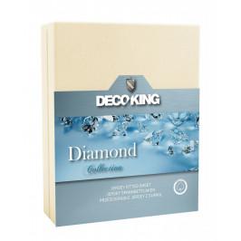Bavlněné prostěradlo DecoKing DIAMOND krémové