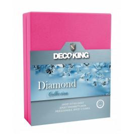 Bavlněné prostěradlo DecoKing DIAMOND růžové