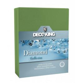 Bavlněné prostěradlo DecoKing DIAMOND zelené