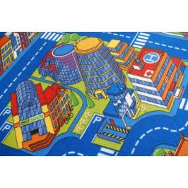 Dětský koberec BIG CITY modrý