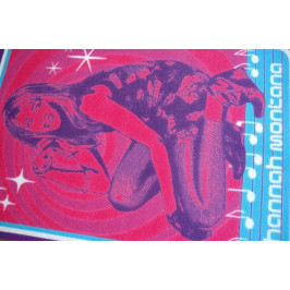Detský koberec HANNAH MONTANA 95 × 133 cm modro-ružový