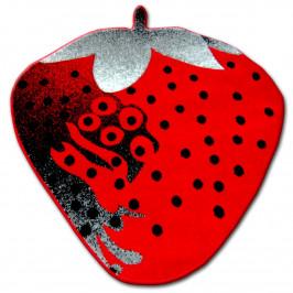 Detský koberec HAPPY Strawberry červený