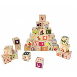Dřevěné edukační kostky Litera EcoToys