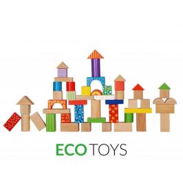 Dřevěné kostky EcoToys 50 ks