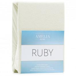 Froté prostěradlo s gumou Amelia Home Ruby ecru