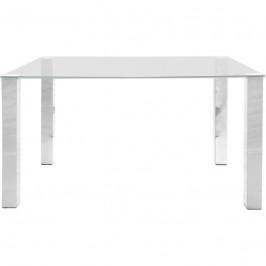 Jídelní stůl Kant 140x90 cm stříbrný