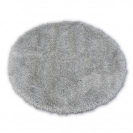 Kulatý koberec LOVE SHAGGY stříbrný