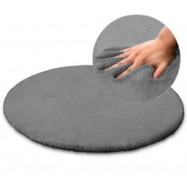 Kulatý koberec Rabbit 100cm šedý