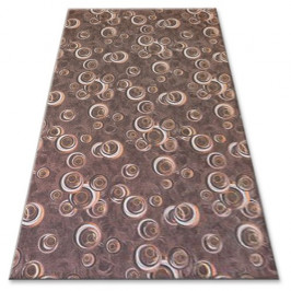 Kusový koberec DROPS Bubbles hnědý