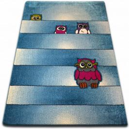 Kusový koberec KIDS sovy modrý C412