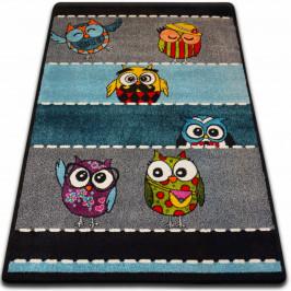 Kusový koberec KIDS sovy šedý C426