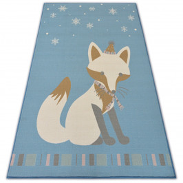 Kusový koberec LOKO Fox modrý
