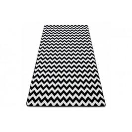 Kusový koberec SKETCH ALEX bílý/ černý - cikcak