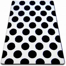 Kusový koberec SKETCH JAMES bílý / černý - kruh