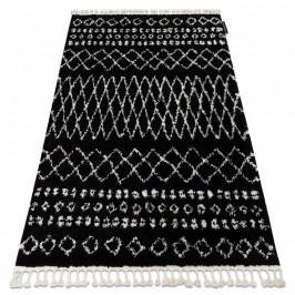 Kusový shaggy koberec BERBER ETHNIC čierny