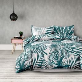 Povlečení z bavlny AmeliaHome Palm bílo-zelené