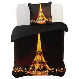 Povlečení z mikrovlákna DecoKing Paris černé