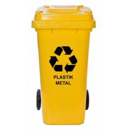 Sada odpadních kontejnerů - 120l - čtyři barvy