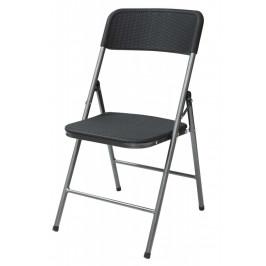 Skládací zahradní židle WOODY šedá