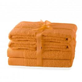 Súprava uterákov AmeliaHome Amary oranžová