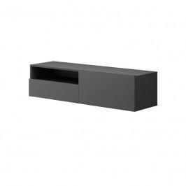 Závěsný TV stolek Moyo II 120 cm matný grafit