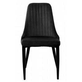 Židle LORIENT VELVET černá