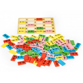 Dřevěná stavebnice s tabulí Matematika EcoToys