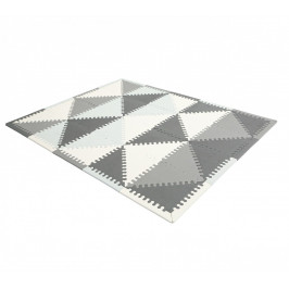 Pěnová podložka PUZZLE 127x157 cm šedá