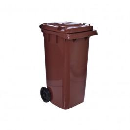 Poplenice na odpady  120L  - hnědá