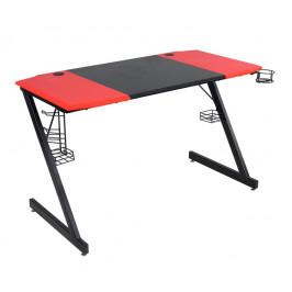Herní stůl Jade ModernHome 120 cm černý/červený