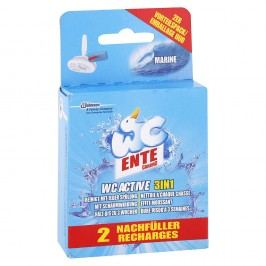 WC Ente WC Active 3v1 - Náhradná náplň do závesného čističu WC Morská sviežosť 2x40 g