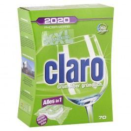 Claro 2020, All in 1 – XXL balenie, tablety do umývačky riadu– 1400 g/70 ks
