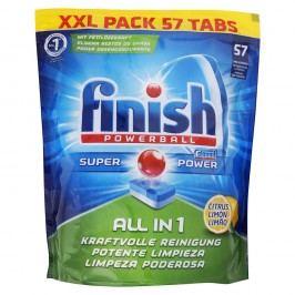 Finish Powerball All in 1, citrón – tablety do umývačky riadu – 57 ks